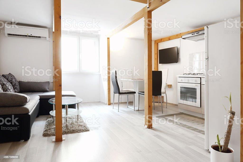 Apartment living room stock photo