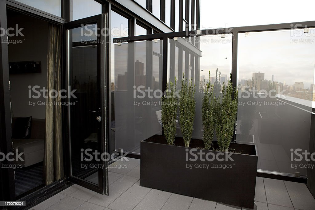 Apartment Outdoor Terrace royalty-free stock photo