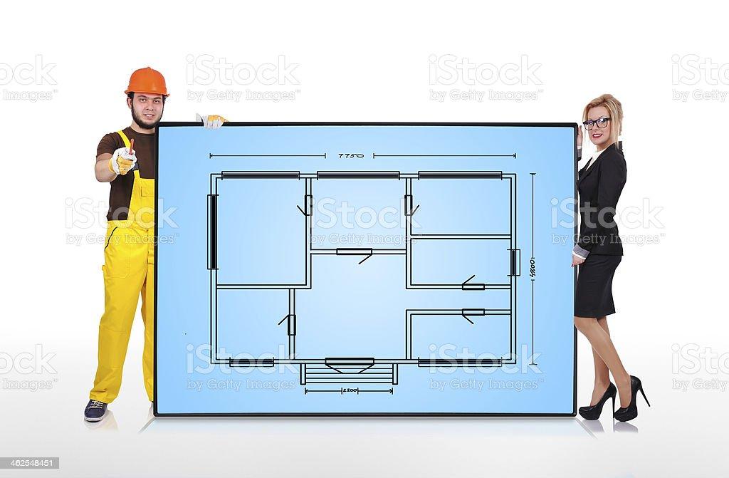 apartment plan royalty-free stock photo