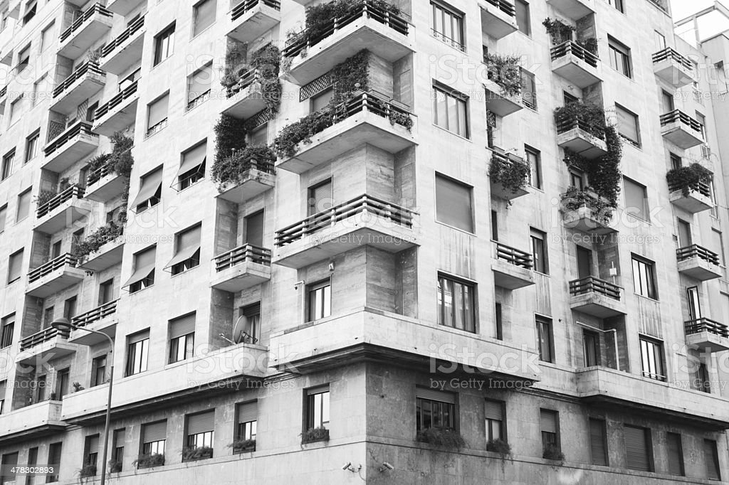 Apartment tower in Milan - Condominio milanese royalty-free stock photo