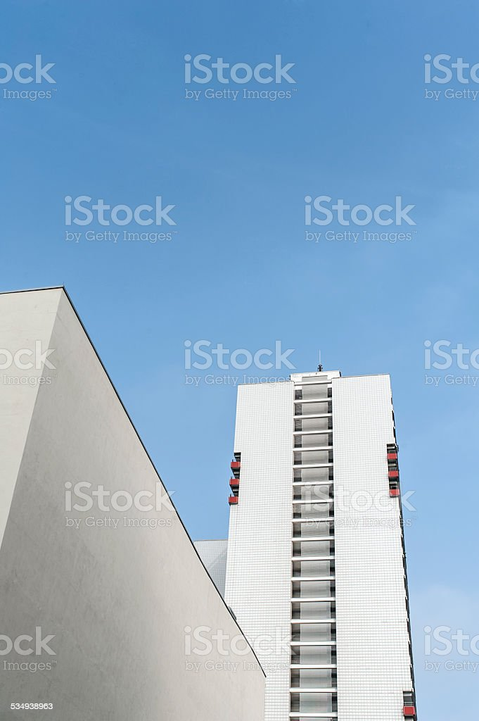 Apartmenthouse complex in Berlin stock photo