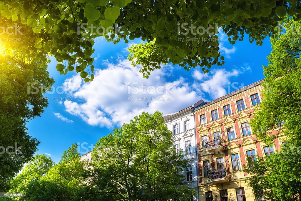 Apartmenthouses in Berlin, Prenzlauer Berg, Germany stock photo