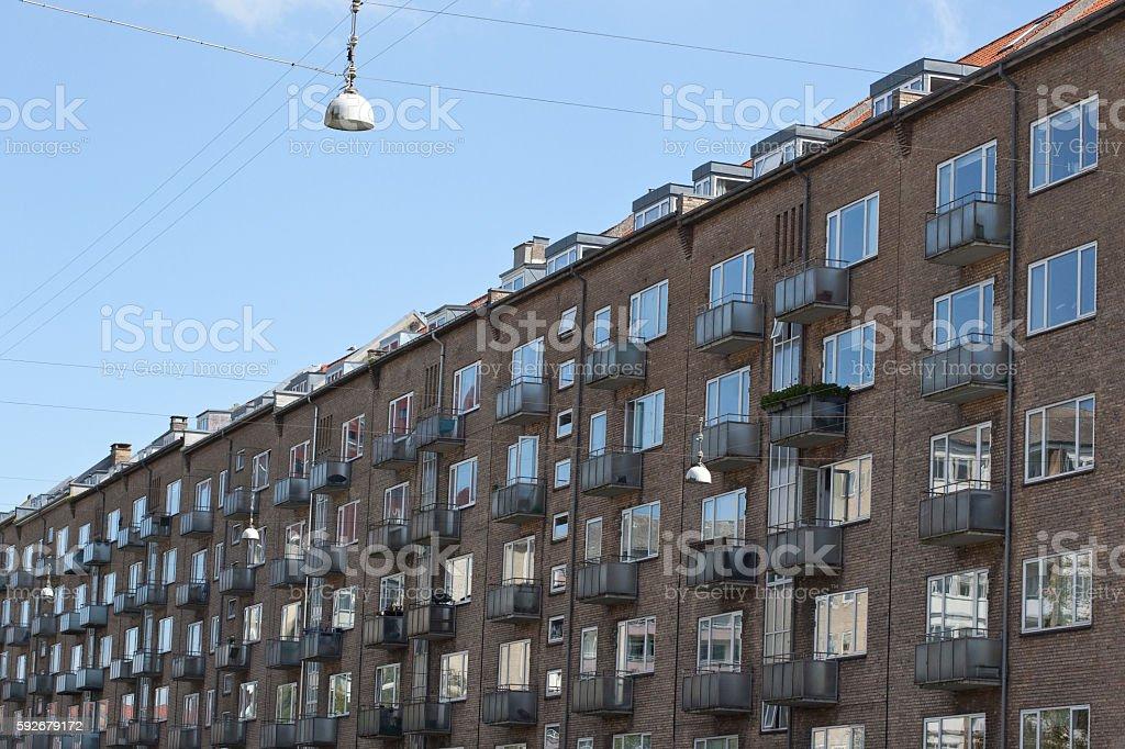 Apartments Aarhus. stock photo