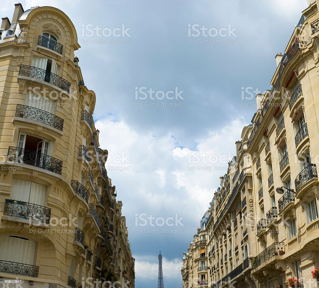 Apartments and balconies, Paris royalty-free stock photo