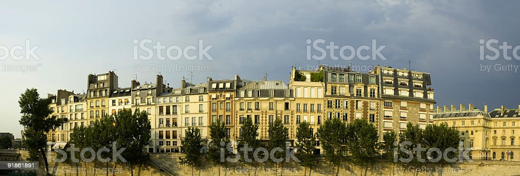 Apartments and townhouses, Paris stock photo