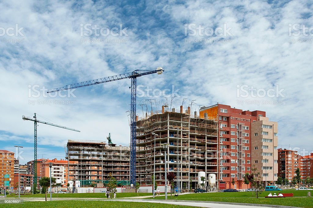 Apartments building construction royalty-free stock photo