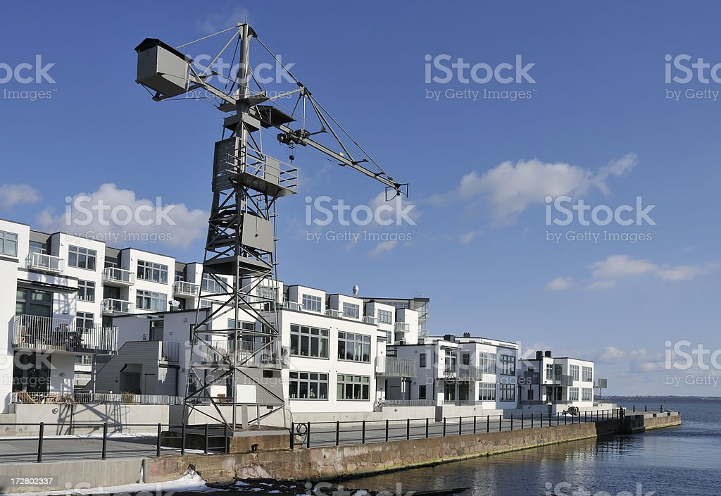 Apartments by the sea stock photo