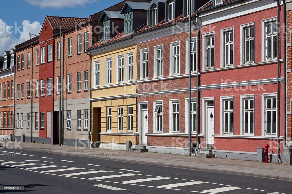 Apartments Drewsensvej, Silkeborg Denmark. stock photo
