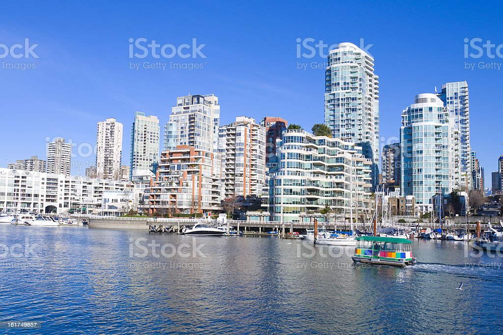 Apartments from Vancouver's Granville Island royalty-free stock photo