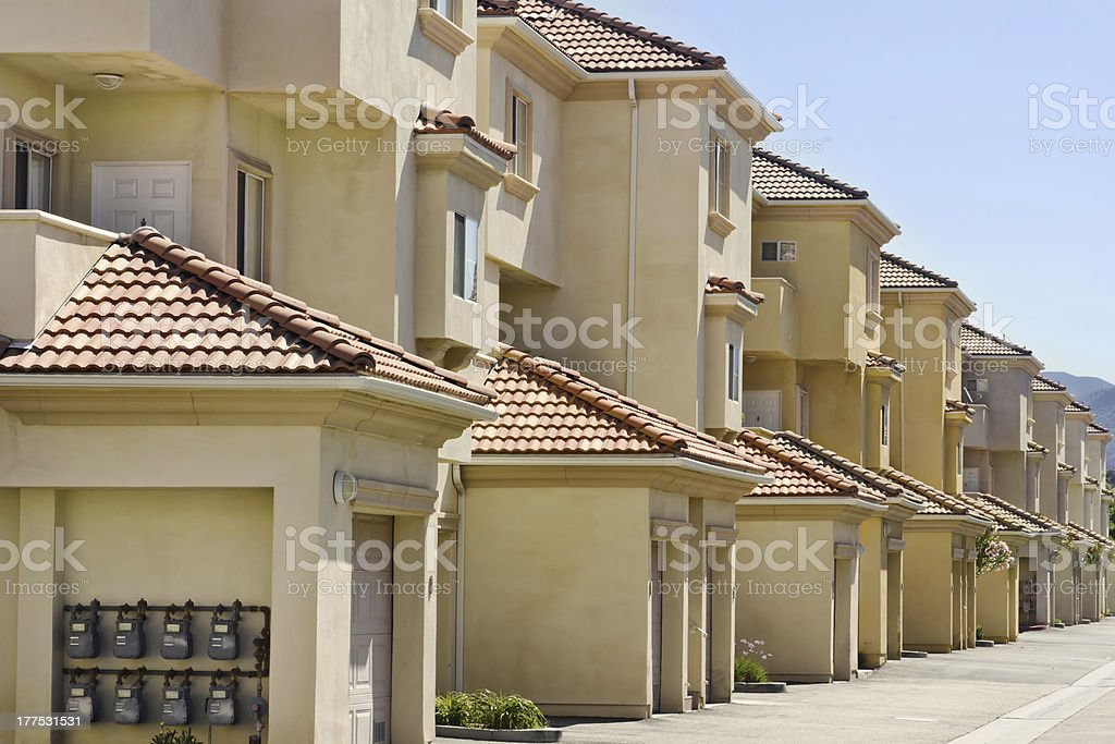 Apartments in a Row royalty-free stock photo