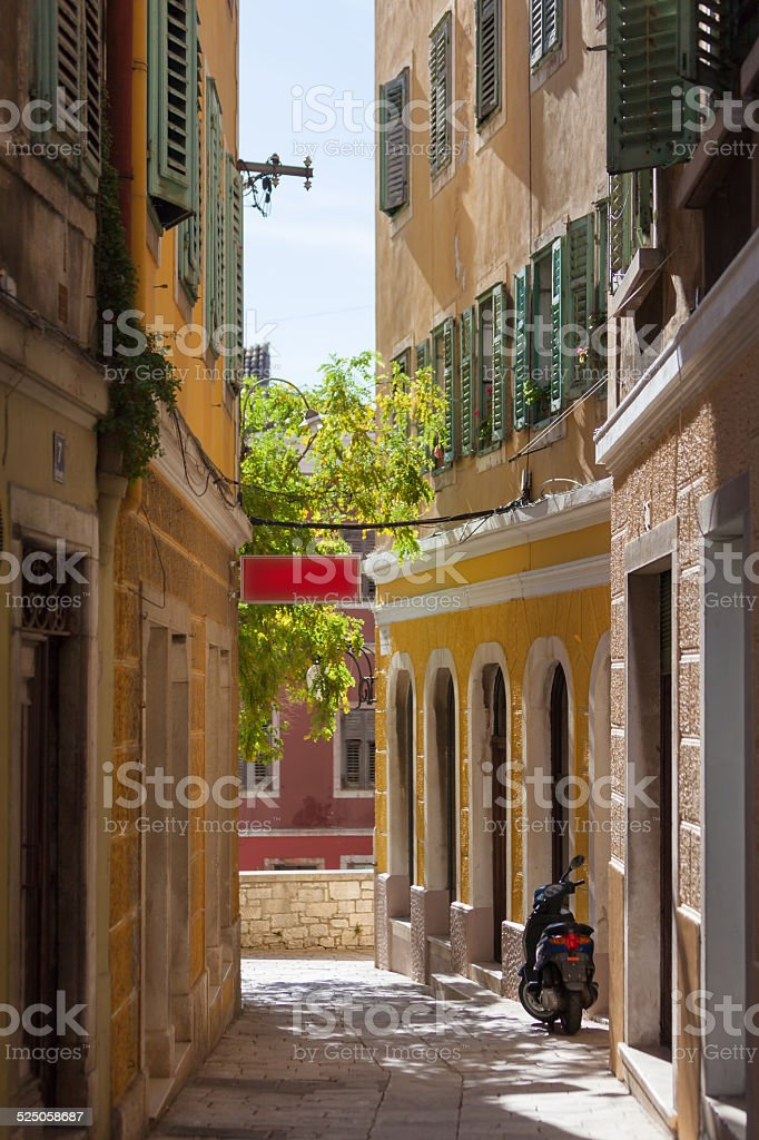 Apartments in a Small lane stock photo