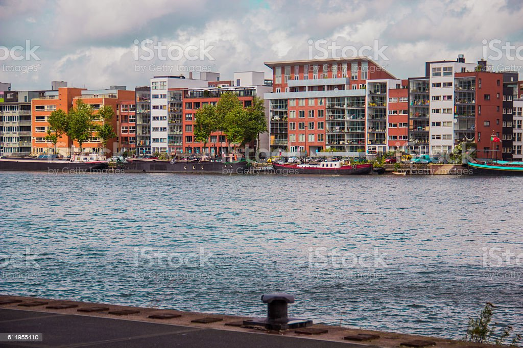 Apartments in Amsterdam stock photo