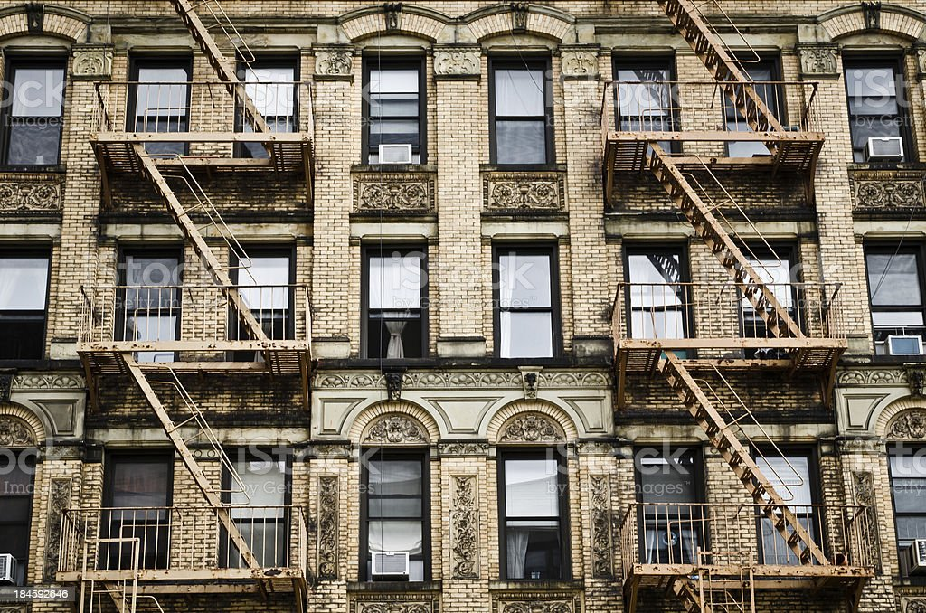 Apartments in Greenwich Village, New York stock photo