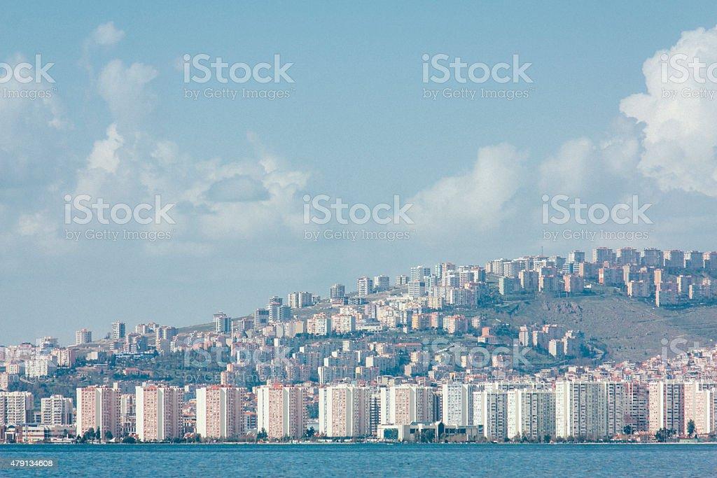 apartments in Izmir, architecture of building exterior stock photo