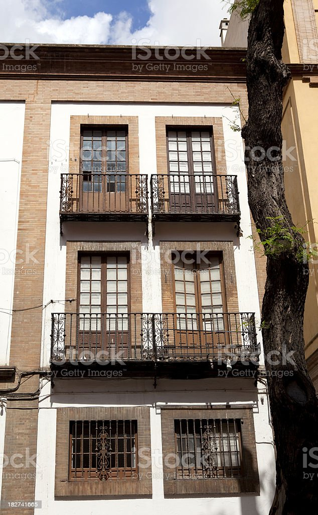Apartments in Seville Spain royalty-free stock photo