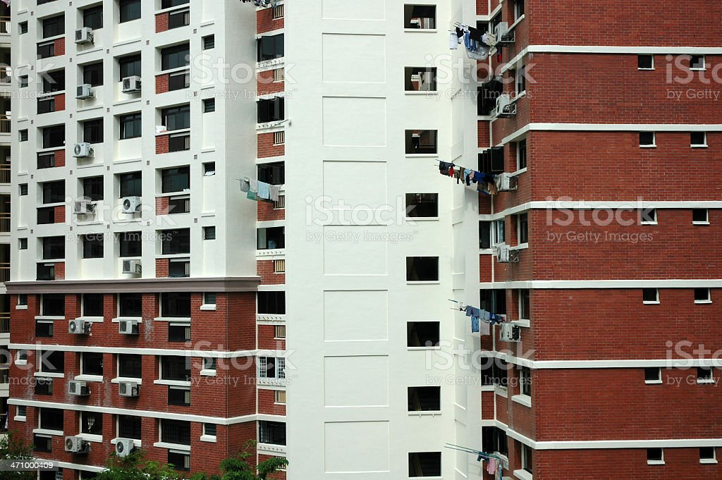 Apartments in Singapore stock photo