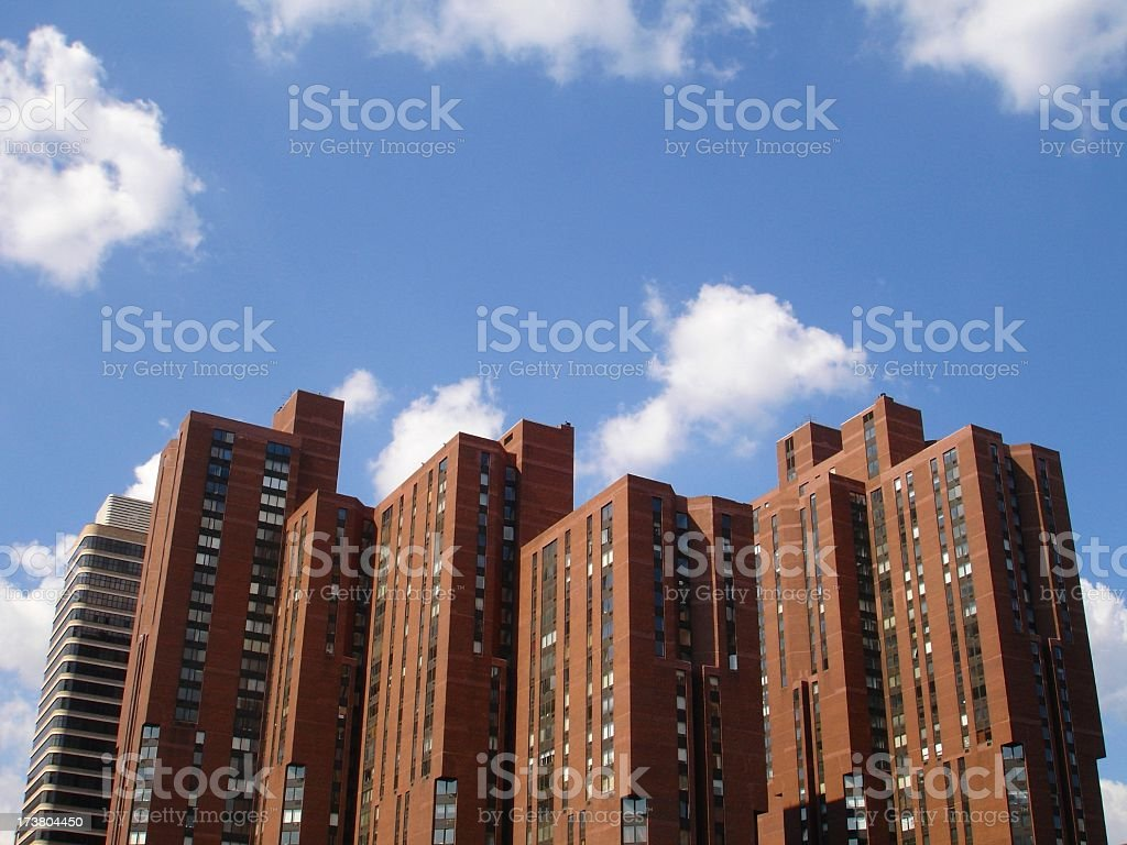 Apartments in the Sky stock photo