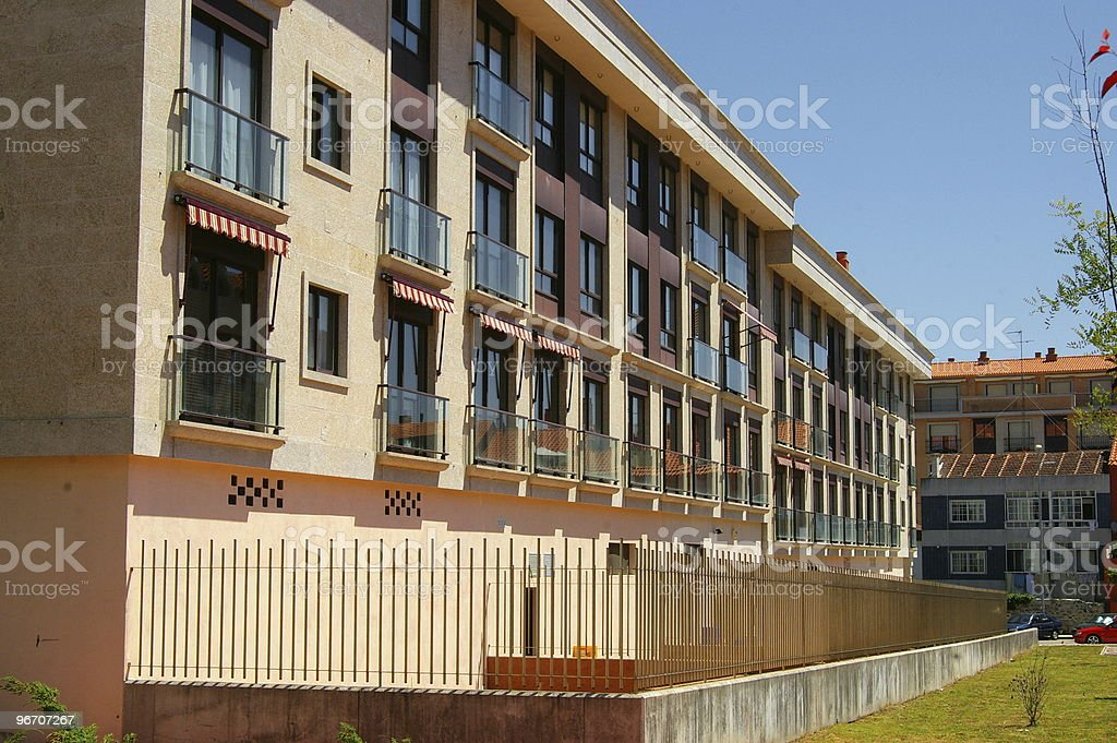 Apartments in the sunshine royalty-free stock photo