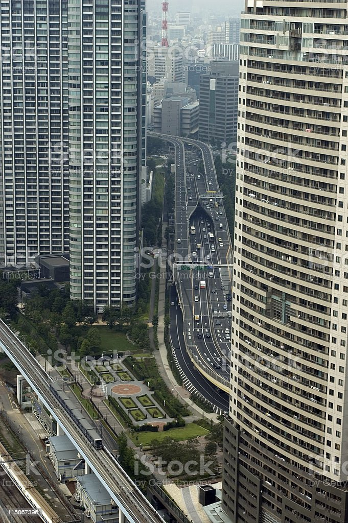 Apartments in  Tokyo royalty-free stock photo