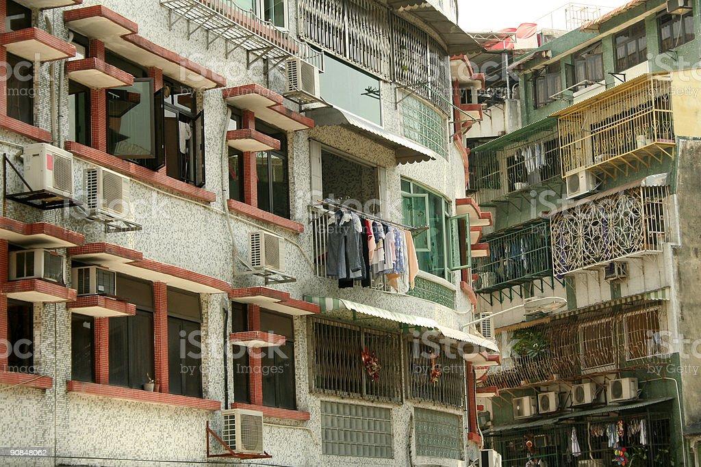 apartments macao royalty-free stock photo