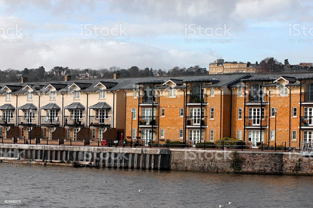 Apartments on the water front royalty-free stock photo