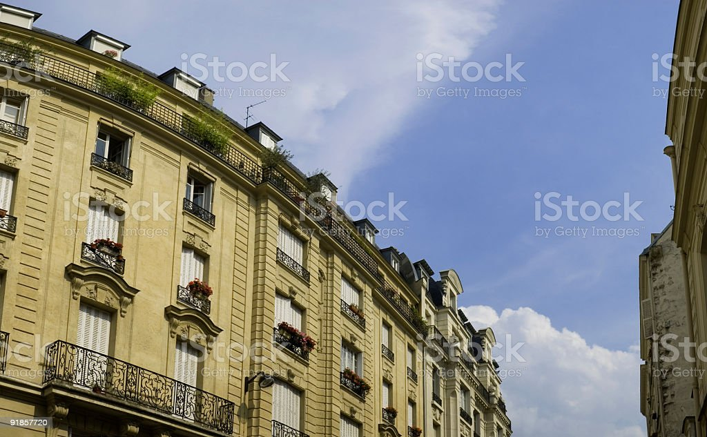 Apartments with shuttered windows royalty-free stock photo
