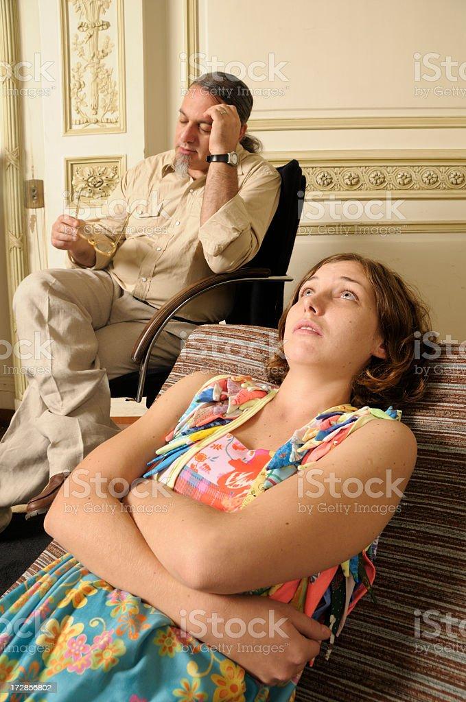 Apathetic Psychiatrist royalty-free stock photo