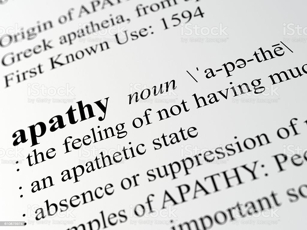 Apathy stock photo