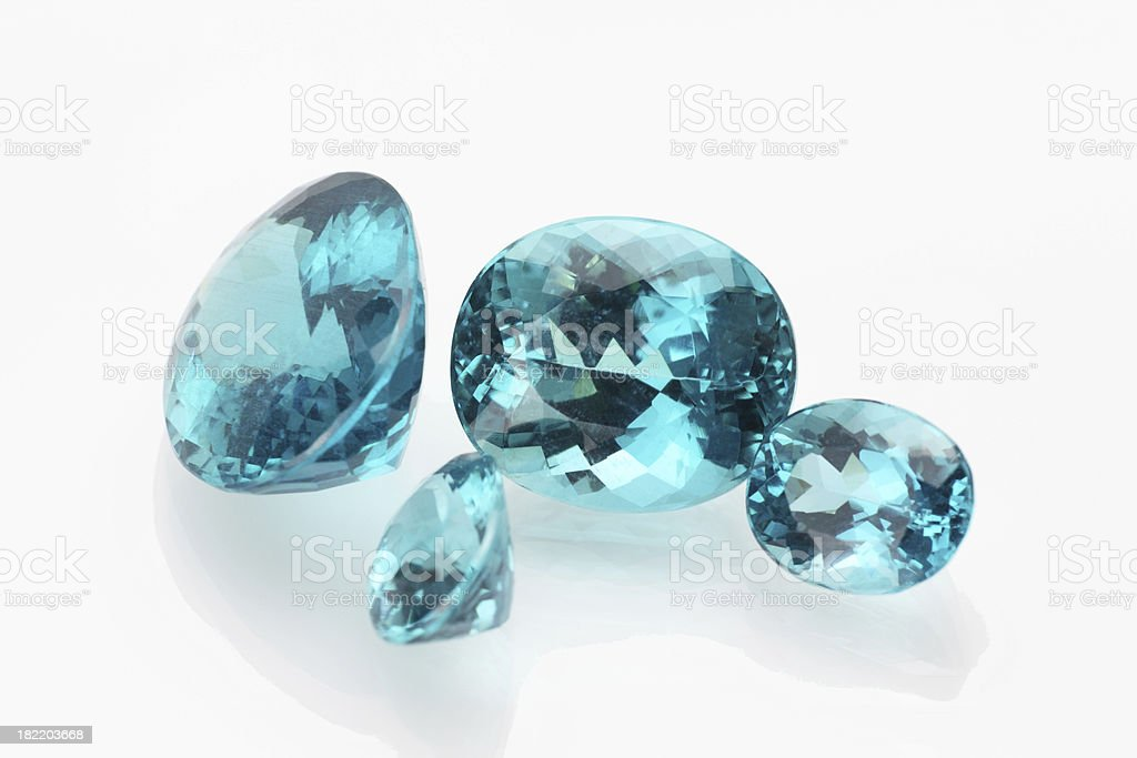 Apatite or Topaz stock photo