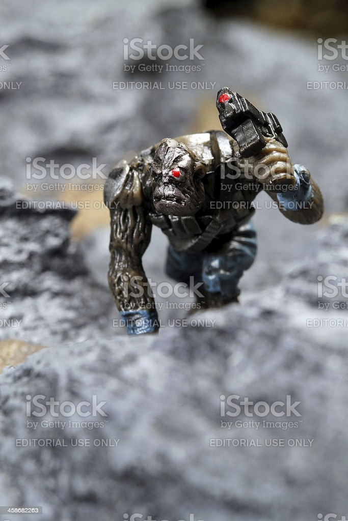 Ape in the Rocks stock photo
