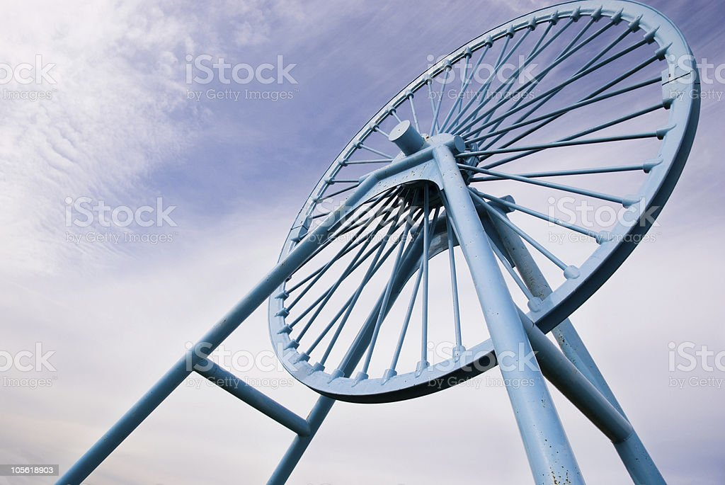Apedale memorial pit wheel royalty-free stock photo