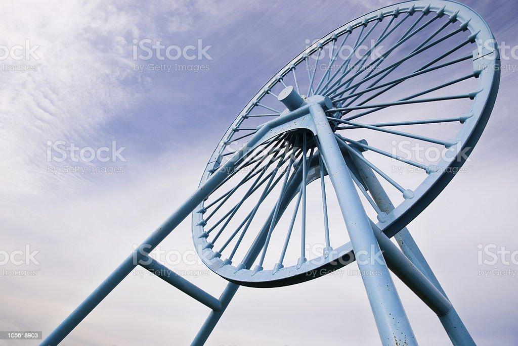 Apedale memorial pit wheel stock photo