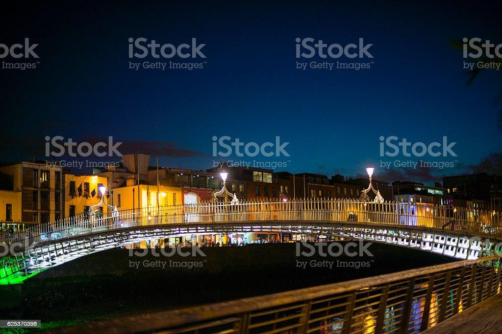 H'apenny Bridge, Dublin, Ireland. stock photo