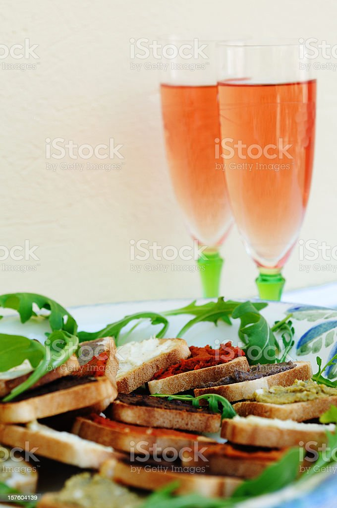 Aperitifs in Provence,France royalty-free stock photo
