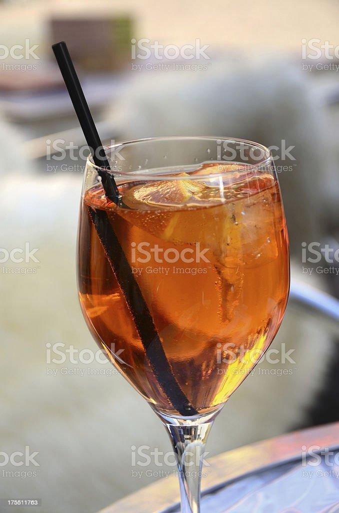 Aperol Spritz Cocktail royalty-free stock photo