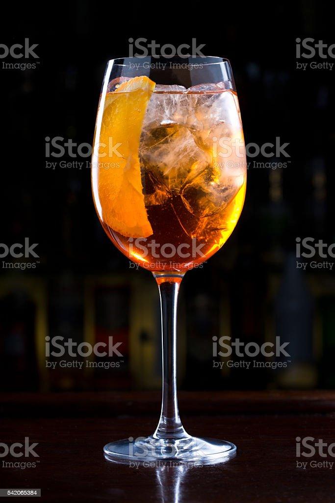 Aperol Spritz Cocktail stock photo