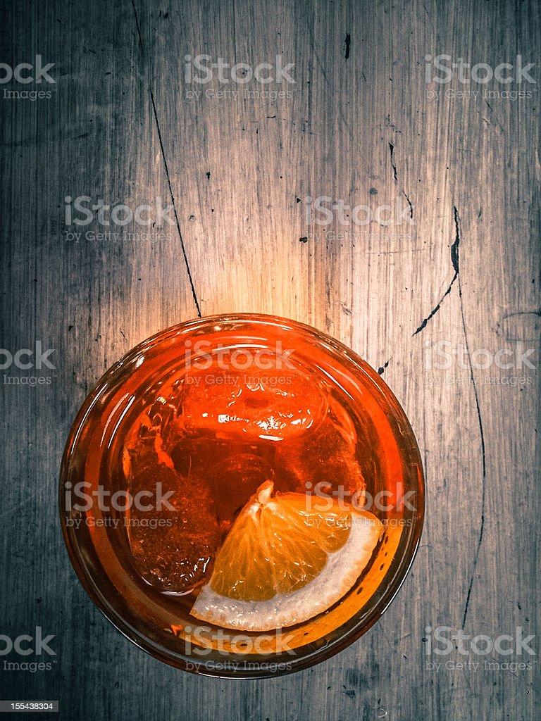 Aperol Spritz Traditional Italian Cocktail stock photo