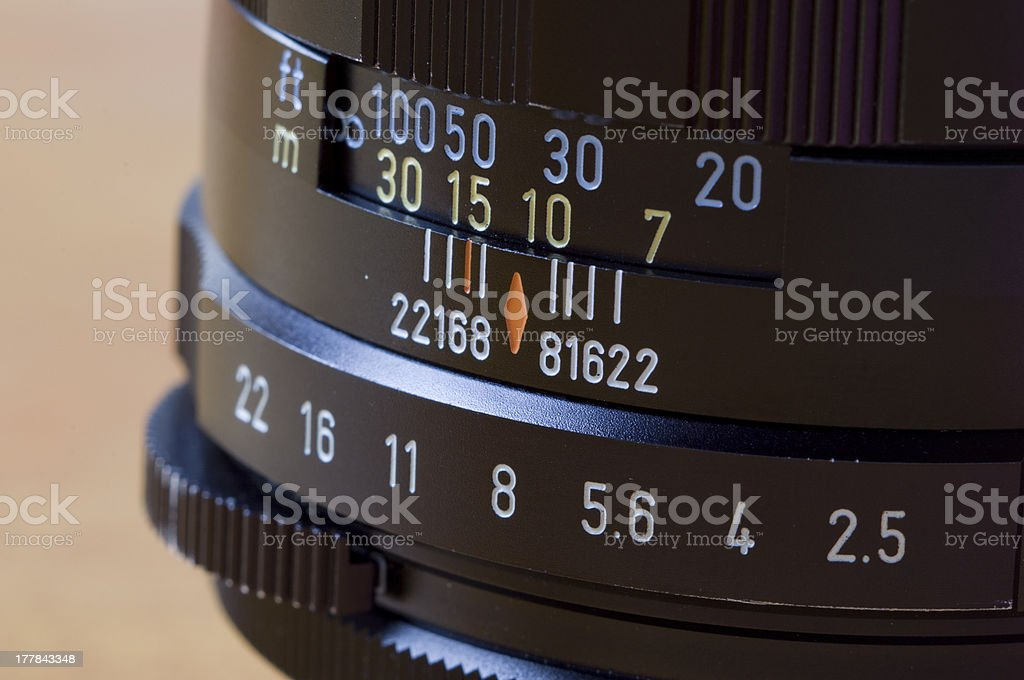 aperture and depth of focus royalty-free stock photo