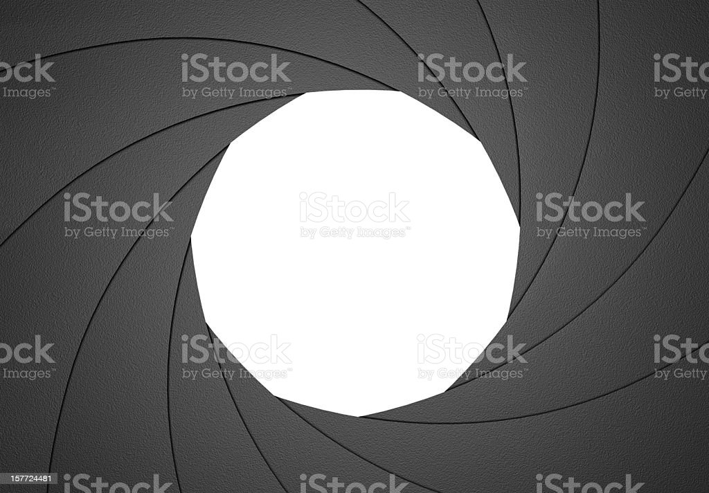 Aperture Blades Diaphragm Design Element stock photo
