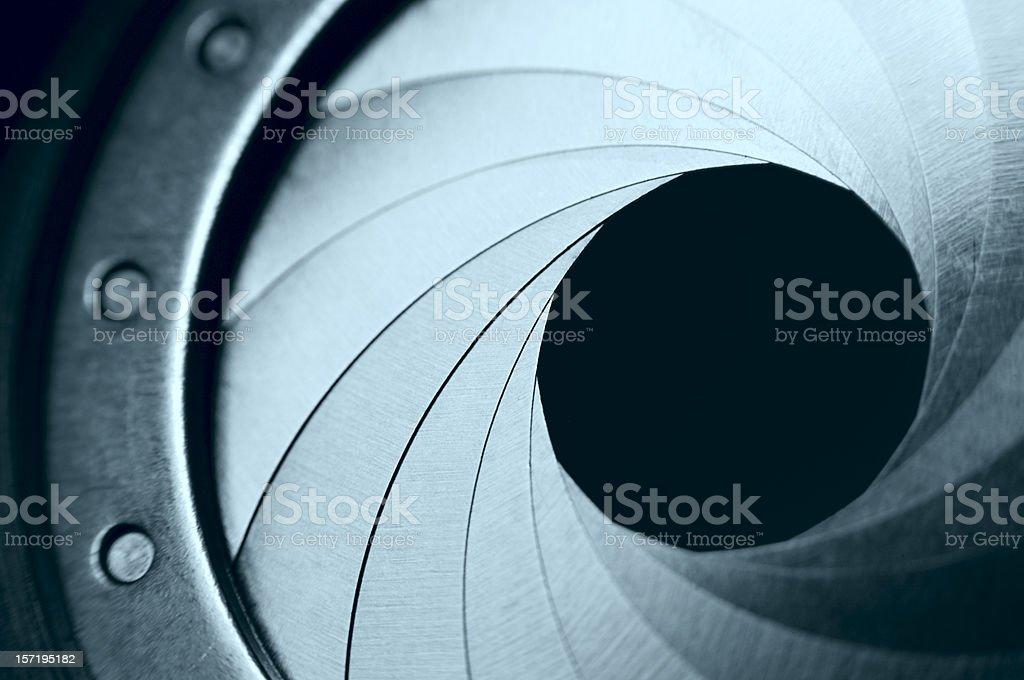 Camera Aperture royalty-free stock photo