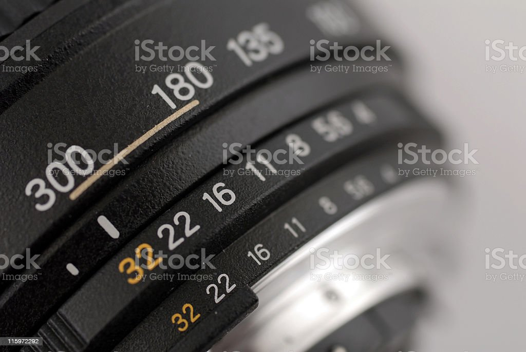 Aperture Scale royalty-free stock photo