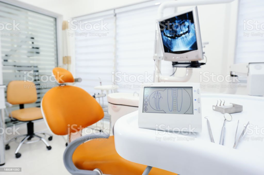 Apex locator device for dental canal treatment stock photo