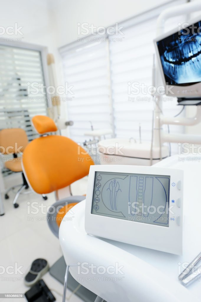 Apex locator device for dental canal treatment royalty-free stock photo