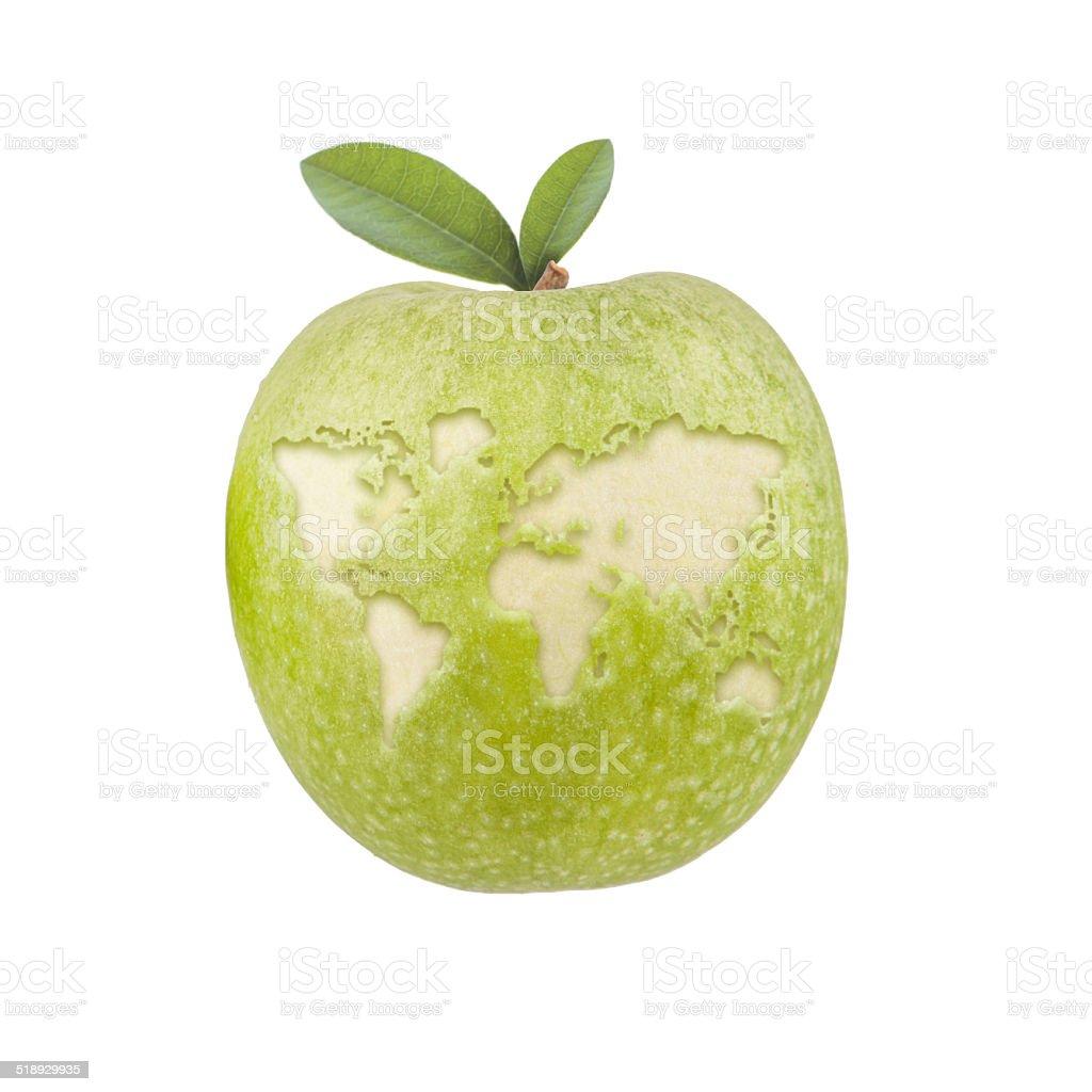 Apfel Welt stock photo