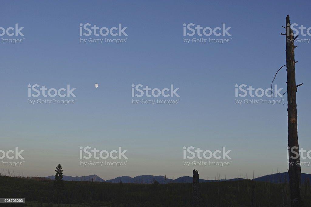 Apgar Mountains Sunset stock photo