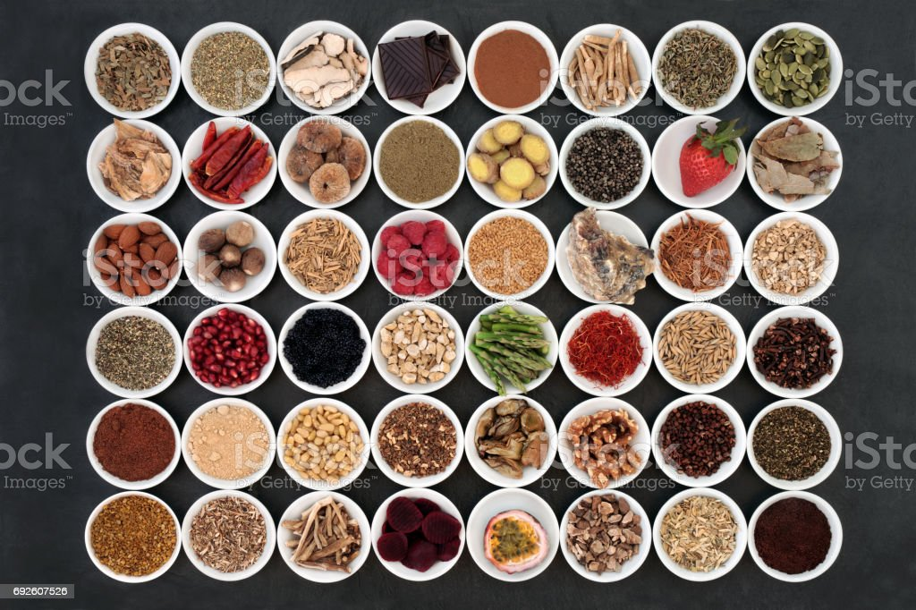Aphrodisiac Health Food Sampler stock photo
