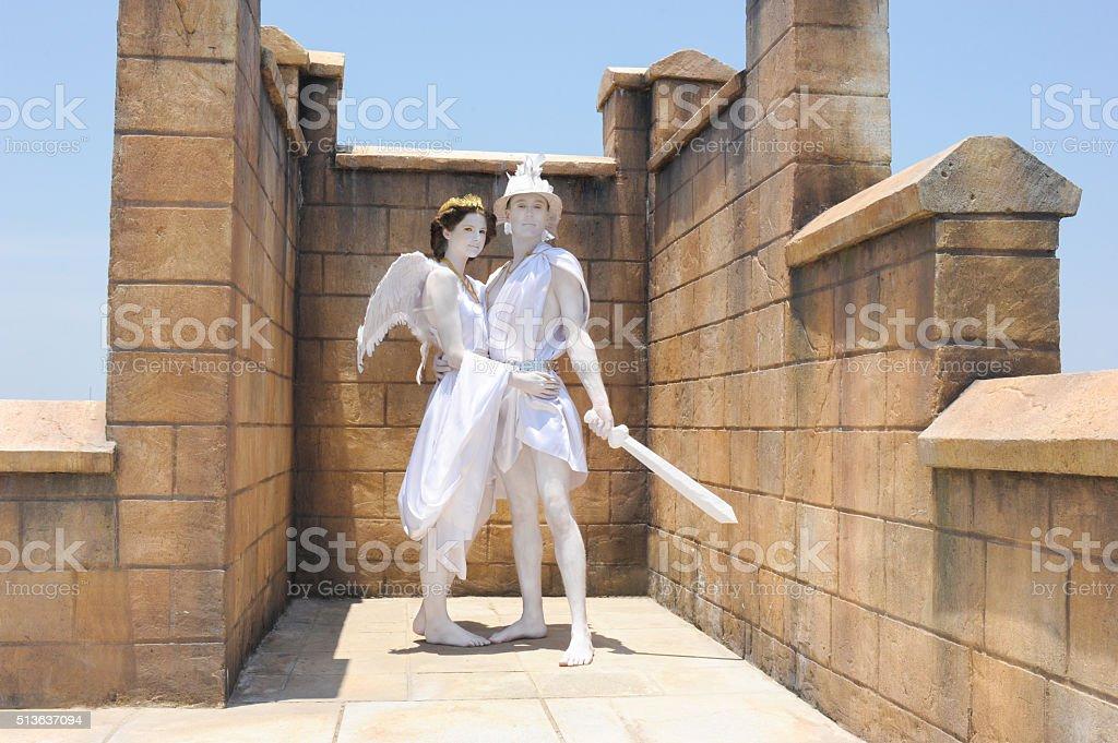 Aphrodite and Perseus stock photo