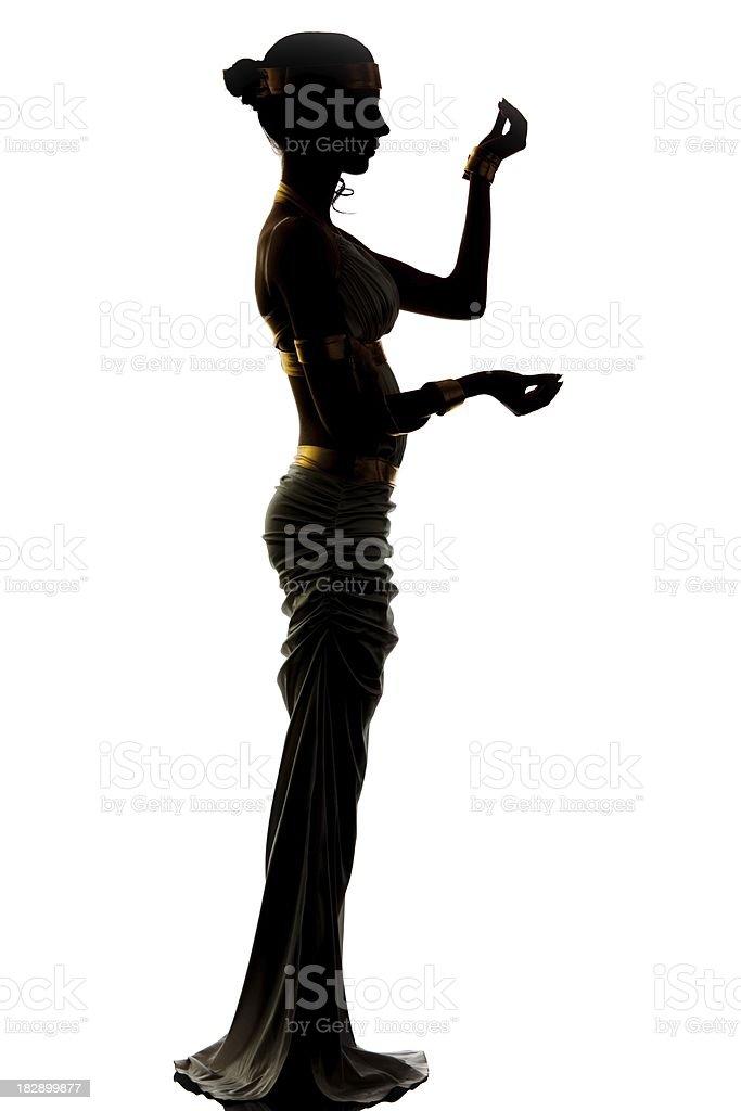 Aphrodite Silhouette royalty-free stock photo