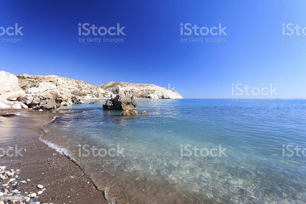 Aphrodite's Beach - Cyprus stock photo