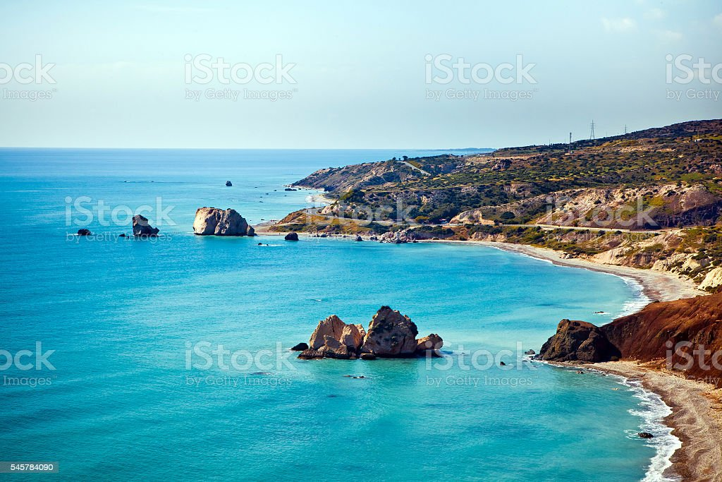 Aphrodite's birthplace in Paphos, Cyprus stock photo